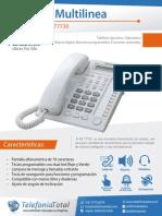 manual de teléfono multilinea KX-T7730