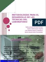 Metodologías Para El Desarrollo de Las Técnicas Del Laboratorio