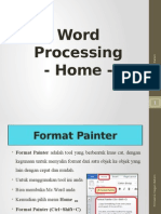 Word Processing - Home