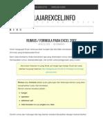Rumus Formula Pada Excel 2007