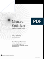 Paul Scheele & Vera Birkenbihl - Memory Optimizer - Manual