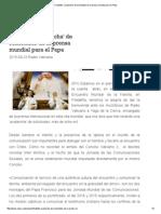 Filadelfia_ 'Avalancha' de Solicitudes de La Prensa Mundial Para El Papa