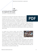 Editorial, Director de _L'Osservatore Romano_ - _La Urgencia de La Paz