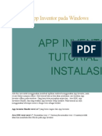 Instalasi App Inventor Pada Windows