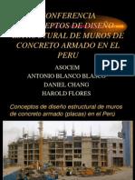 Conceptos para el Diseño de Muros de Concreto Armado en Perú