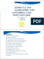 Austenitic 304 Stainless Steel for Cryogenic LNG Applications