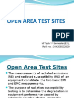 Open Area Test Sites