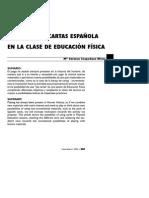 La Baraja de Cartas Española en La Clase de Ef