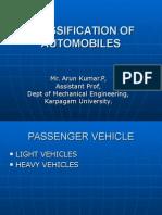 Classification of Automobiles