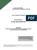 Gerencia de seguros - El rol del ejecutivo