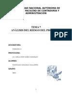 TEMA 7 ANALISIS DEL RIESGO DEL PROYECTO.. FINANZAS 4.docx