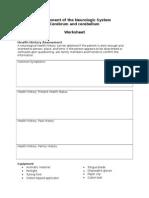 Assessment of the Neurologic System I Worksheet Mhs