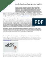 Letras Y Traducciones De Canciones Para Aprender Inglés