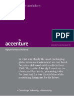 Accenture 2009 Letter From Our Chairman and CEO
