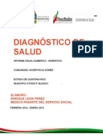 Diagnostico de Salud CS Rojo Gomez