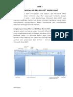 SK2 Menggunakan Software Pengolah Kata KD1 Pengenalan Office 2007