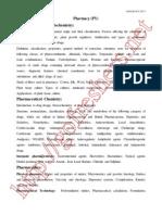 AP PGECET Pharmacy Syllabus and Exam Pattern