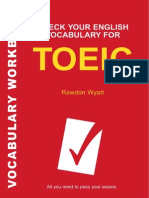 Vocabulary for the Toeic