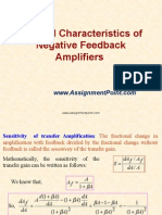 General Characteristics of Negative Feedback Amplifiers