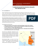 Takshashila Strategic Assessment Iran Pakistan Border