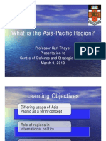 Thayer What is the Asia-Pacific?