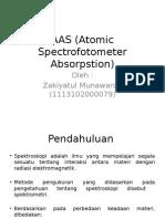 AAS (Atomic Spectrofotometer Absorpstion)