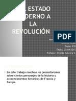 Del Estado Moderno a La Revolución