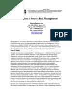 Article ProjectRiskManagement
