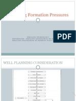 Predicting Formation Pressures
