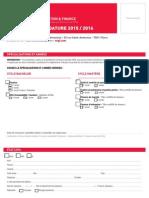 Dossier Candidature ESGF Octobre 2015