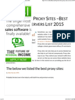 Top 110 Free Proxy Sites –Best Free Proxy Servers List 2015