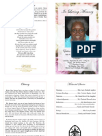 Esther Mae Benton Davis Funeral Program