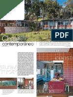 poster arquitetura chalé
