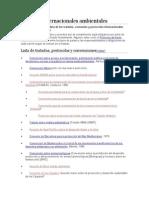 Tratados internacionales ambientales