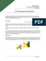 DPI PPI Megapixels and Resolution