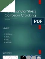 Transgranular Stress Corrosion Cracking