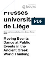 Ritual and Communication in the Graeco-Roman World - Moving Events Dance at Public Events in the Anc