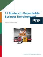Barriers to Business Development eBook