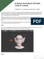Building a Complete Human Facial Rig in 3D Studio Max Part 1