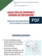 Ebola Vías de Contagio y Normas de Prevención