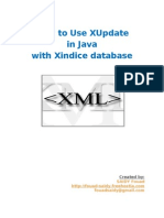 How to use xupdate in java  with xindice database