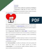 DEFINICIÓN DE SEXUALIDAD