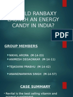 Should Ranbaxy Launch an Energy Candy in India