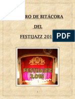 Libro de bitácora del Festijazz 2015