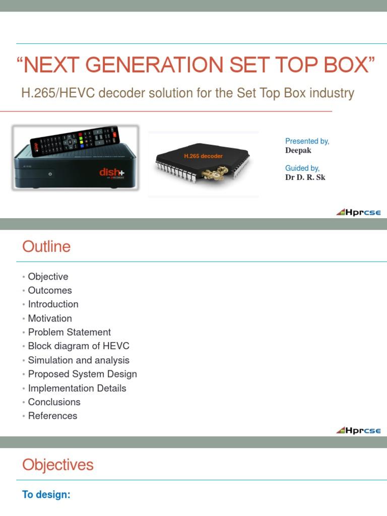 Set Top Box Hevc Presentation Display Technology Digital Television H 264 Codec Block Diagram