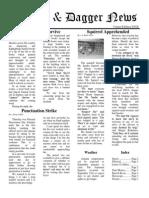 Pilcrow and Dagger Sunday News 9-27-2015