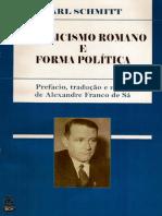 Catolicismo Romano e Forma Politica - Carl Schimitt