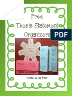 Organizer Thesis Statement