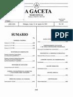 Gaceta 164 . 2015 Nicaragua