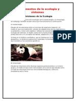 Divisiones de La Ecología